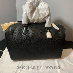 Michael Kors Grayson Large Black Leather